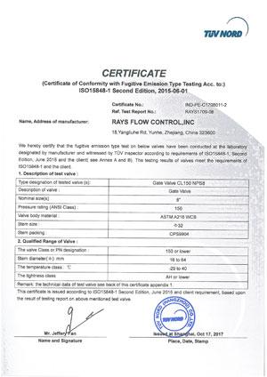 ISO15848-1-Gate-Valve